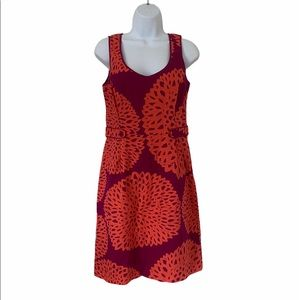 Boden Retro Floral A Line Sheath Dress